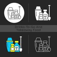 Cocktail-Kits dunkles Thema Symbol vektor