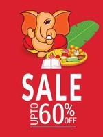 Happy Ganesh Chaturhi 60 Prozent Rabatt vektor