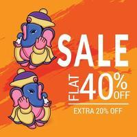 Happy Ganesh Chaturhi 40 Prozent Rabatt vektor