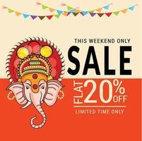Happy Ganesh Chaturhi 20 Prozent Rabatt vektor