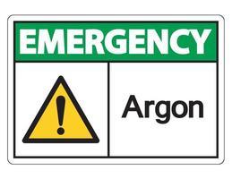Notfall Argon Symbol vektor