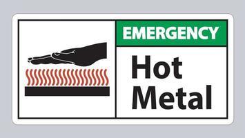 Notfall heißes Metallsymbol vektor