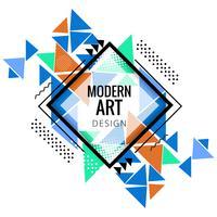 Modern färgstark polygonal bakgrund vektor