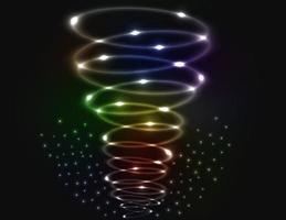 abstrakter Tornadohintergrund mit Trümmerfeld vektor