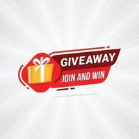 giveaway-meddelande om konkurrens med högtalare vektor