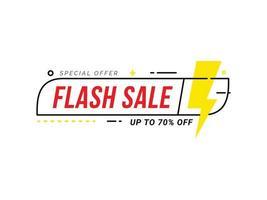 Flash Sale Rabatt Sonderangebot Banner Preis Rabatt Aktion vektor
