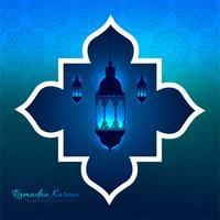 Hängender Laternenhintergrund Ramadan Kareems dekorativer vektor