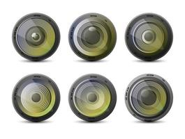 Kameraobjektiv eingestellt vektor