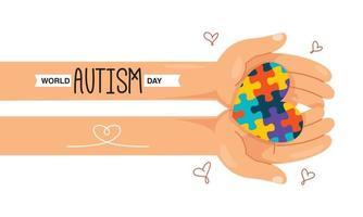 Konzeptzeichnung des Autismusbewusstseins vektor