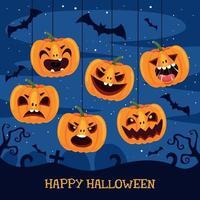 halloween koncept med rolig karaktär vektor