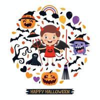 süßes Halloween-Banner vektor