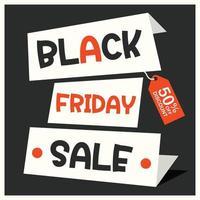 schwarze Freitag Verkauf Inschrift Design-Vorlage vektor