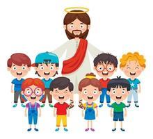Karikaturzeichnung von Jesus Christus vektor