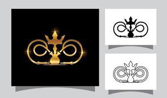 goldener König Shisha Vektorzeichen vektor