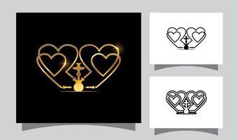Liebe Shisha Vektor Zeichen