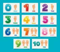 Konzept der mehrfarbigen Zahlen vektor