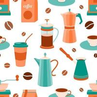 nahtloses Muster des Kaffeethemas vektor