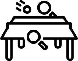 Liniensymbol für Tischtennis vektor
