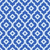 nahtloses Muster mit schöner blauer arabischer Verzierung für Netz und Druck vektor