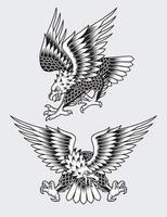 amerikanische schreiende Adler-Tätowierungsvektorillustration vektor
