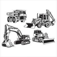 Sammlung von Baumaschinen vektor