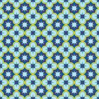 blaues nahtloses antikes arabesque patern orientalisches arabisches oder marokkanisches Verzierungsmosaik kann als Badezimmerfliesen-Tapeten-Stofftexturhintergrund-Lagervektorillustration verwendet werden vektor