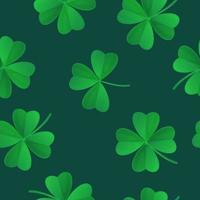 Grün Klee nahtloses Muster Saint Patricks Day Konzept kann als Stoff Textur Textil Hintergrund Lager Vektor-Illustration in Cartoon realistischen Stil verwendet werden vektor