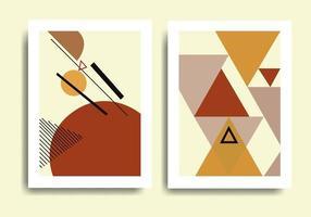 Design abstrakte moderne geometrische Vektor-Grafik-Design-Set vektor