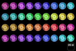 Set aus verschiedenen bunten Pailletten vektor
