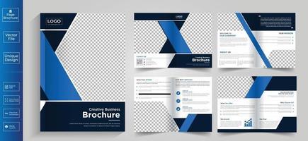 Firmenprofil Firmenmotiv 8 Seiten Design der Firmenprofilbroschüre 8 Seiten Kreatives Design der Geschäftsbroschürenvorlage vektor
