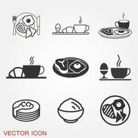 Frühstücksikonen eingestellt vektor