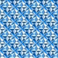 Dies ist ein polygonales blaues geometrisches Muster mit Sternen und Dreiecken vektor