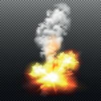 Explosionsillustration Vektorillustration vektor