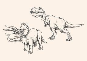Handritning Dinosaur