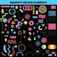 Memphis Design-Elemente setzen Vektor-Illustration vektor