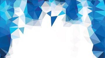abstrakter blauer Polygonhintergrund vektor