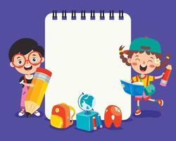 leeres Briefpapier für die Kindererziehung vektor