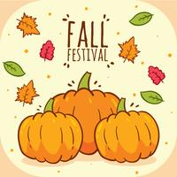 Pumpor Fall Festival Vector