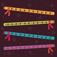 Handdragen Dandiya Sticks Vector