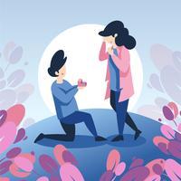Engagementvorschlag vektor