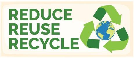 reduzieren reduzieren recyceln vektor