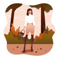 Mädchen im Herbst Mode Vektor