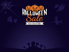 Halloween försäljning bakgrund vektor