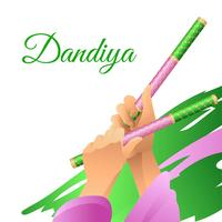 Dandiya-Stock-Tanz vektor