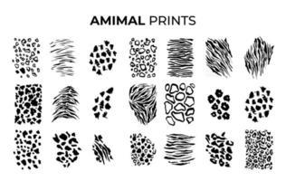 Tiger schwarz Silhouetten Tiger druckt Muster vektor