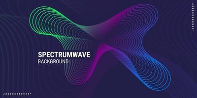 abstrakte Hintergrundmusik Welle Design geeignet für Poster Flyer Banner Werbung Websites usw. Vektor-Illustration vektor