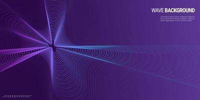 bunte Wellen des abstrakten Musikhintergrunddesigns vektor