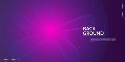 Musikwellenhintergrund entwerfen eine elektronische Musikparty in den Abstufungen des dunklen Rosas und des Blaus vektor