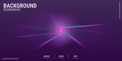 elektronische Musikparty des Musikwellenhintergrunddesigns in den Abstufungen des dunklen Rosas und des Blaus vektor