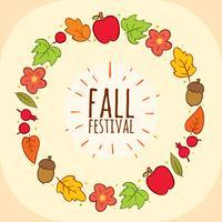 Herbst Festival Rahmen Vektor